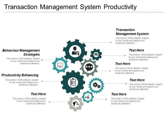 Transaction Management System Productivity Enhancing Behaviour Management Strategies Ppt PowerPoint Presentation Ideas Microsoft