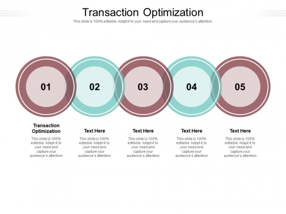 Transaction Optimization Ppt PowerPoint Presentation Inspiration Deck Cpb Pdf