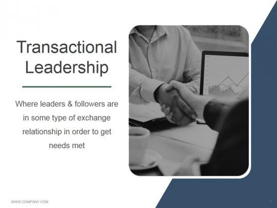 Transactional Leadership Ppt PowerPoint Presentation Influencers