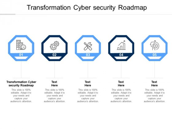 Transformation Cyber Security Roadmap Ppt PowerPoint Presentation Infographic Template Visual Aids Cpb Pdf