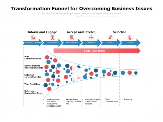 Transformation_Funnel_For_Overcoming_Business_Issues_Ppt_PowerPoint_Presentation_Layouts_Graphics_PDF_Slide_1