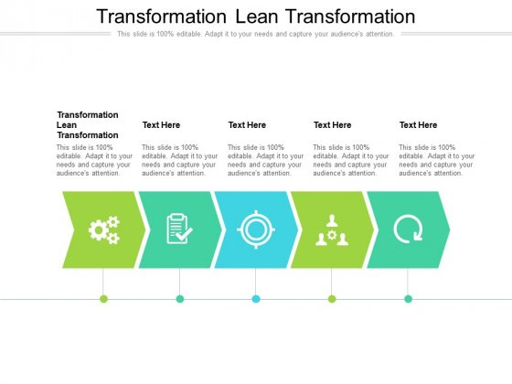 Transformation Lean Transformation Ppt PowerPoint Presentation Infographic Template Icon Cpb Pdf