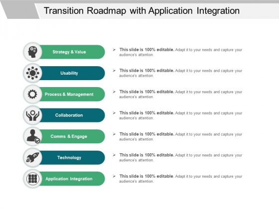Transition Roadmap With Application Integration Ppt PowerPoint Presentation Gallery Layout Ideas PDF