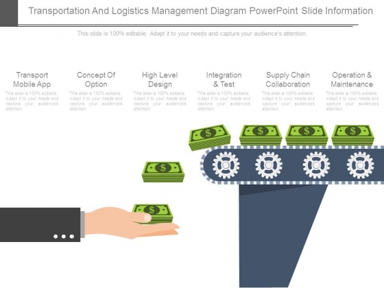 Transportation And Logistics Management Diagram Powerpoint Slide Information