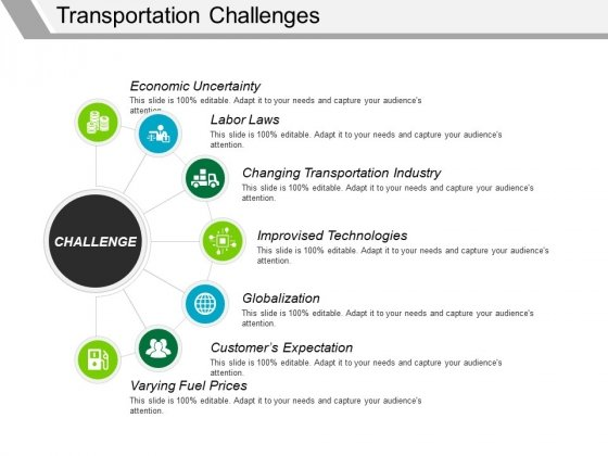Ways of goods transportation powerpoint template, backgrounds.