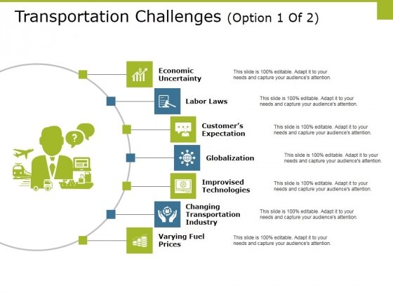 Transportation Challenges Template 1 Ppt PowerPoint Presentation Outline Show