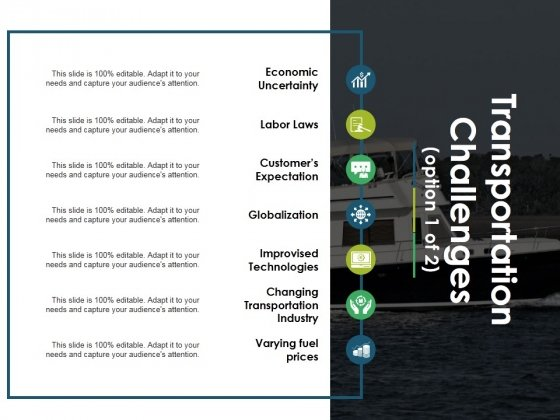 Transportation Challenges Template 1 Ppt PowerPoint Presentation Visual Aids Gallery