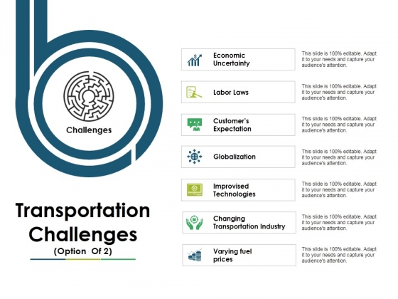 Transportation Challenges Template 2 Ppt PowerPoint Presentation Pictures Templates