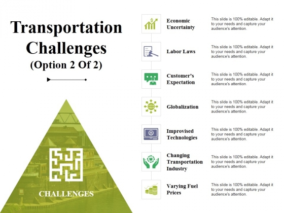 Transportation Challenges Template 2 Ppt PowerPoint Presentation Summary Example Topics