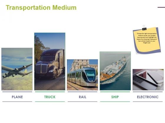 Transportation Medium Ppt PowerPoint Presentation Inspiration Format Ideas