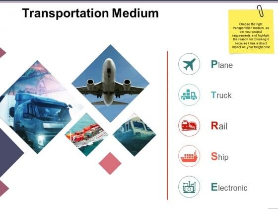 Transportation Medium Ppt PowerPoint Presentation Show Design Inspiration