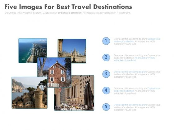 Travel Guide With Pictures And Information Powerpoint Template