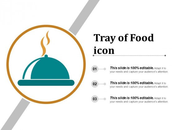 Tray Of Food Icon Ppt PowerPoint Presentation Pictures Examples