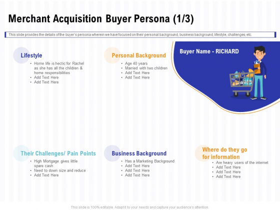 Trends And Emerging Areas In Merchant Acquiring Industry Merchant Acquisition Buyer Persona Cash Designs PDF