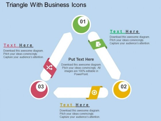 Triangle With Business Icons Powerpoint Templates