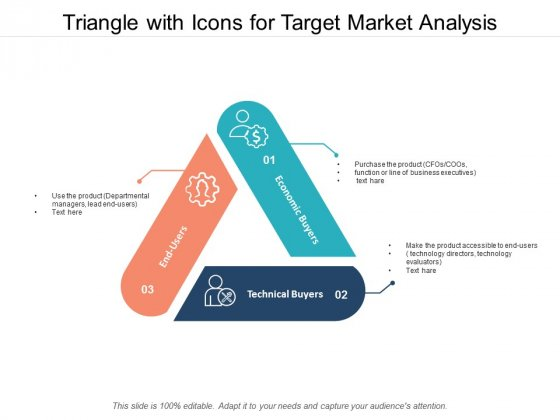 Triangle With Icons For Target Market Analysis Ppt Powerpoint Presentation Summary Templates