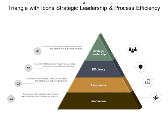Triangle With Icons Strategic Leadership And Process Efficiency Ppt PowerPoint Presentation Model Tips