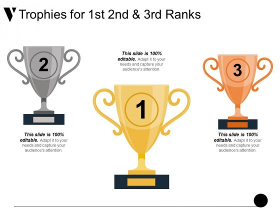 Trophies For 1St 2Nd And 3Rd Ranks Ppt PowerPoint Presentation Visual Aids Layouts