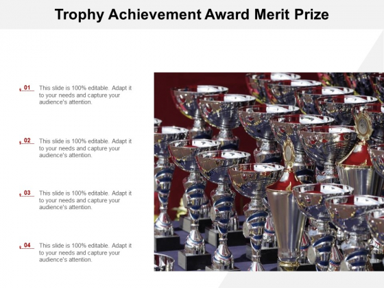 Trophy Achievement Award Merit Prize Ppt PowerPoint Presentation Pictures Graphics Template