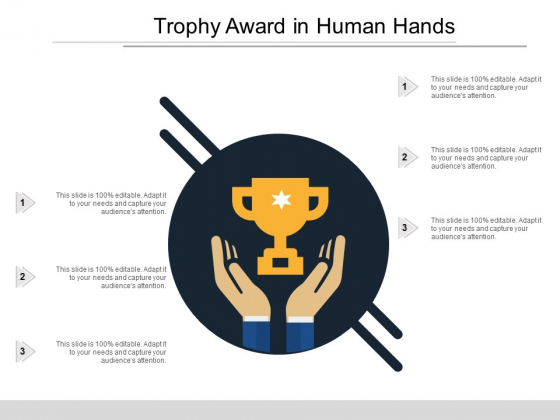 Trophy Award In Human Hands Ppt PowerPoint Presentation File Portfolio
