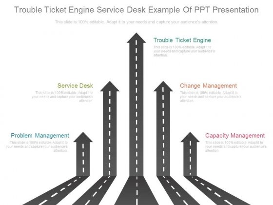 Trouble Ticket Engine Service Desk Example Of Ppt Presentation