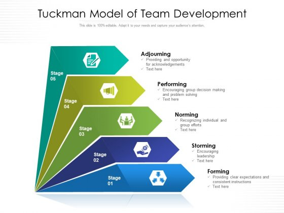 Tuckman Model Of Team Development Ppt PowerPoint Presentation Outline Clipart Images PDF