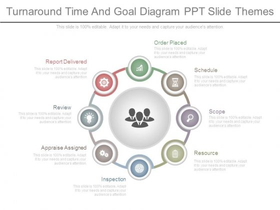 Turnaround Time And Goal Diagram Ppt Slide Themes