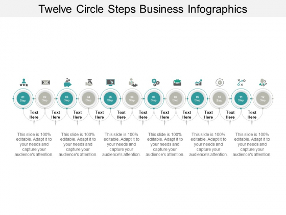 Twelve Circle Steps Business Infographics Ppt PowerPoint Presentation Gallery Information