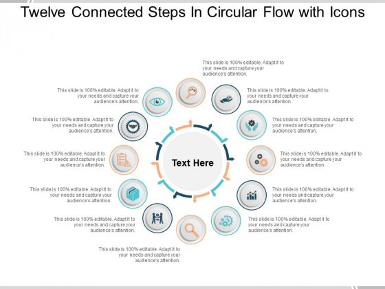 Twelve Connected Steps In Circular Flow With Icons Ppt PowerPoint Presentation Infographic Template Vector