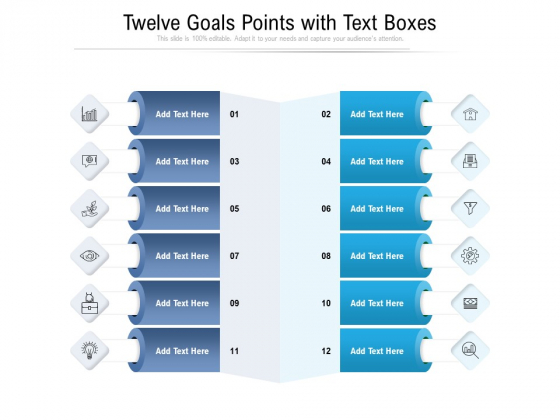 Twelve_Goals_Points_With_Text_Boxes_Ppt_PowerPoint_Presentation_Gallery_Topics_PDF_Slide_1