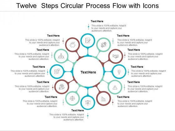 Twelve Steps Circular Process Flow With Icons Ppt PowerPoint Presentation Ideas Designs