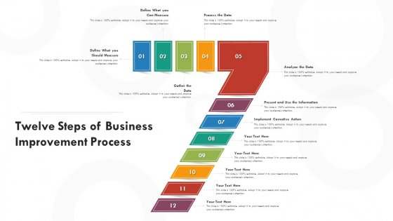 Twelve Steps Of Business Improvement Process Ppt PowerPoint Presentation File Background PDF