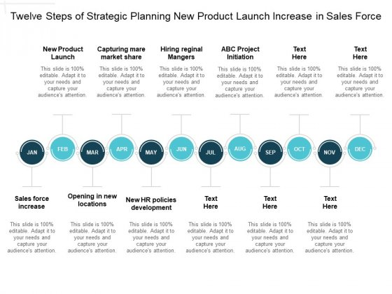 Twelve Steps Of Strategic Planning New Product Launch Increase In Sales Force Ppt Powerpoint Presentation Gallery Slide