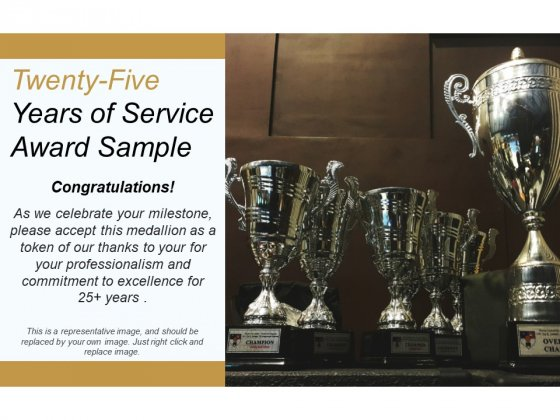 Twenty Five Years Of Service Award Sample Ppt PowerPoint Presentation Pictures Samples