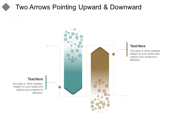 Two Arrows Pointing Upward And Downward Ppt PowerPoint Presentation File Slides