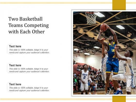 Two Basketball Teams Competing With Each Other Ppt PowerPoint Presentation Icon Introduction PDF