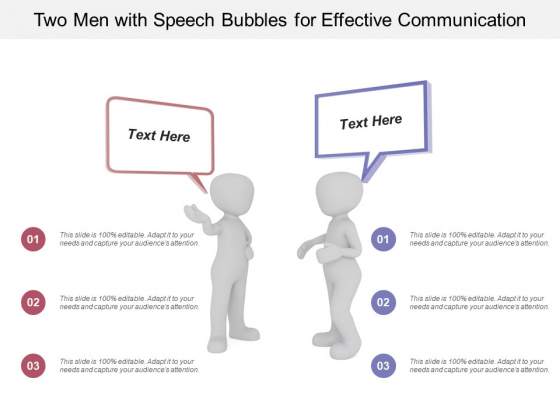 Two Men With Speech Bubbles For Effective Communication Ppt PowerPoint Presentation Icon Slideshow