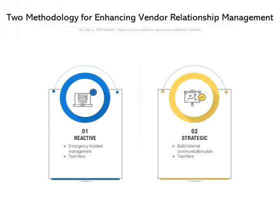 Two Methodology For Enhancing Vendor Relationship Management Ppt PowerPoint Presentation Gallery Grid PDF