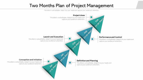 Two Months Plan Of Project Management Ppt Powerpoint Presentation Icon Example PDF