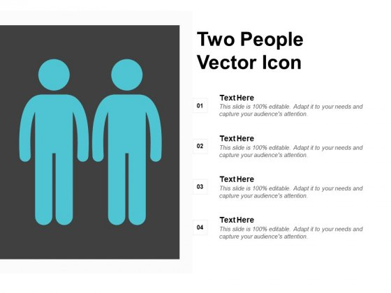 Two People Vector Icon Ppt PowerPoint Presentation Icon