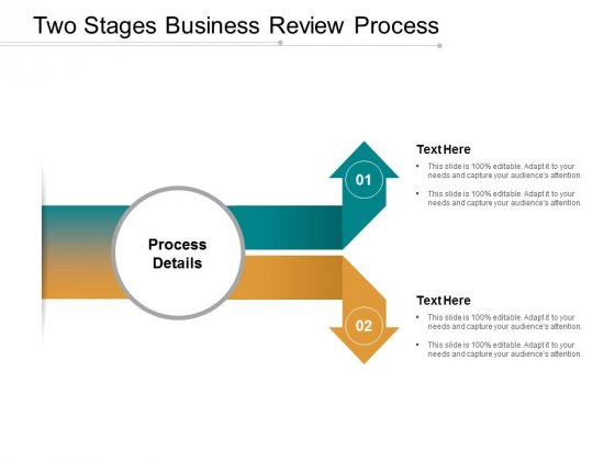 Two Stages Business Review Process Ppt Powerpoint Presentation File Show