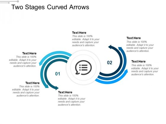 Two Stages Curved Arrows Ppt Powerpoint Presentation Portfolio Information