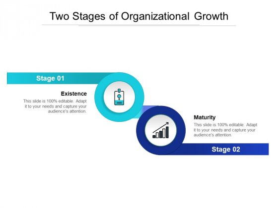 Two Stages Of Organizational Growth Ppt PowerPoint Presentation Model Layout PDF