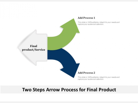 Two Steps Arrow Process For Final Product Ppt PowerPoint Presentation File Professional PDF