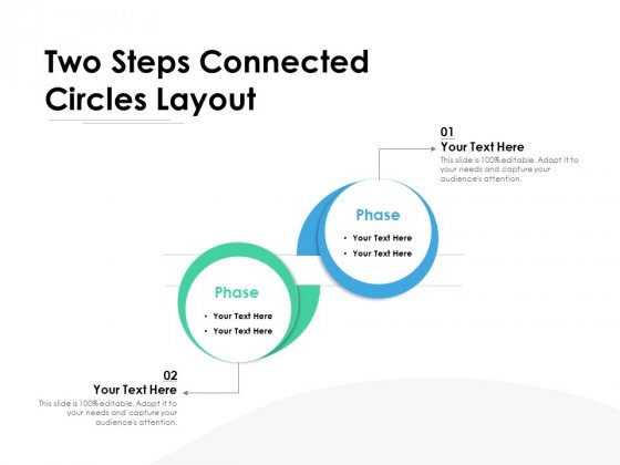 Two Steps Connected Circles Layout Ppt PowerPoint Presentation Summary Graphics Tutorials