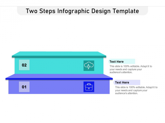 Two Steps Infographic Design Template Ppt PowerPoint Presentation Gallery Background Images PDF