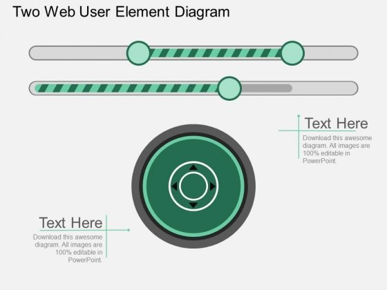 Two Web User Element Diagram Powerpoint Template