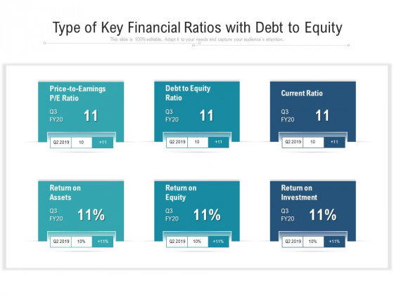 Type Of Key Financial Ratios With Debt To Equity Ppt PowerPoint Presentation File Template PDF