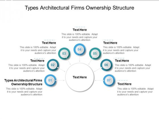 Types Architectural Firms Ownership Structure Ppt PowerPoint Presentation Infographics Diagrams Cpb