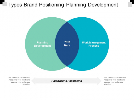 Types Brand Positioning Planning Development Work Management Process Ppt PowerPoint Presentation Outline Example